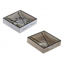 Pack 2 servilletero de madera Botanic