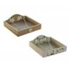 Pack 2 servilletero de madera Magnolio