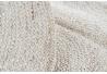 Alfombra redonda de fibra natural beige trenzado 90 cm France