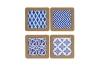 Set 4 salvamanteles gres geometrico 20x20 cm