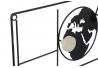 Perchero pared metal negro mapa del mundo factory 5 corgadores