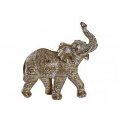 Figura elefante resina blanco 27x13x28 cm