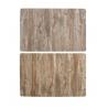 Juego de 12 individuales efecto madera relieve 2 color surtido