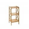 Estantería con 3 baldas de bambú nórdica marrón de 33x36x85 cm