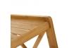 Estantería con 4 baldas de bambú nórdica marrón de 33x36x119 cm