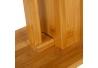 Portarrollos con escobilla nórdico marrón de bambú de 21x36x82 cm