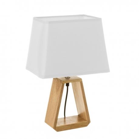 Lámpara de mesita de noche nórdica de madera marrón de 41x12x26 cm
