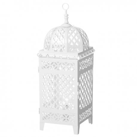 Lámpara de mesa metal blanco sobremesa 18x18x51 cm