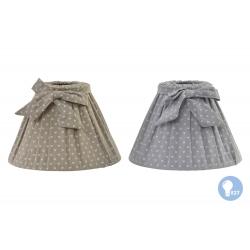 Pantalla de algodon lazo para lampara 22 cm