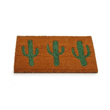 Felpudo de coco cactus purpurina 40x60 cm