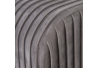 Banqueta pie de cama de tela y metal contemporánea gris de 129x45x48 cm