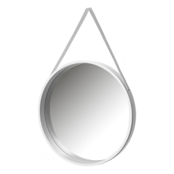 Espejo colgante blanco de madera MDF de 50x50 cm