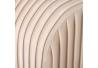 Banqueta pie de Cama de Tela y Metal contemporánea Beige de 129x45x48 cm