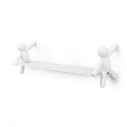 Estante de pared buddy shelf blanco