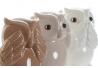 Set 3 figura buho de suerte porcelana (ver , oir , callar )