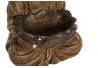 Figura buda marron resina decoracion 31 cm