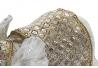 Figura elefante resina espejo beige 34x15x27 cm