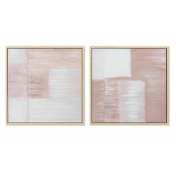 Set 4 cuadro lienzo abstracto modelo surtido 70x70 cm