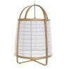 Lámpara de techo bambu natural y lino blanco de Ø 44x64 cm