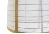 Lámpara de techo natural y lino blanco de Ø 44x64 cm