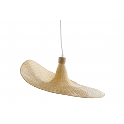 Lámpara de techo bambu natural de Ø 58x58x22 cm