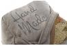 Sujetapuerta algodon kilim gris 22x22x22 cm