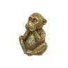 Figurita mono de poliresina decoracion 15 cm (callar )