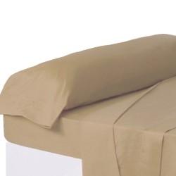 Juego de sábanas de cama 135 clásico beige de algodón / poliéster Basic