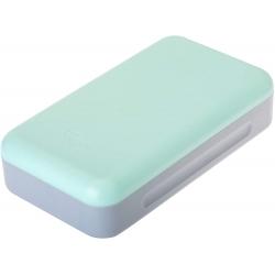 Recogemigas verde menta diseño compacto para mesa y encimera