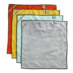 Pack 4u bayeta microfibra multiuso rengo para cocina y baño