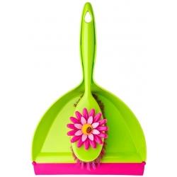 Juego de escoba y recogedor de mano para limpieza Flower Power