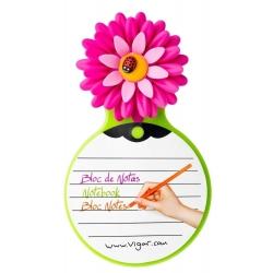 Bloc de Notas Magenta y Verde, Flower Power