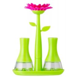 Set de Sal y Pimienta, Verde Magenta Flower Power