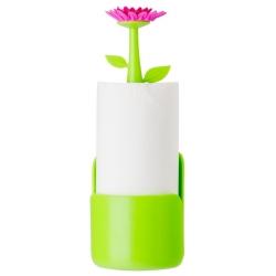 Portarollos de Cocina, Verde Magenta Flower Power