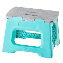 Taburete Plegable Compact de Color Turquesa de 23 cm de Altura