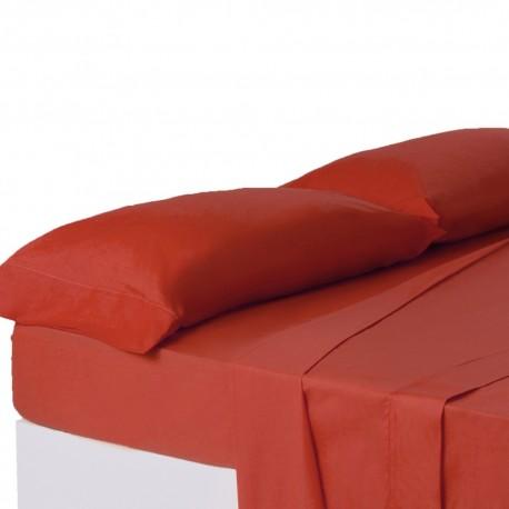 Juego de sábanas de cama 150 clásico rojo de algodón / poliéster Basic