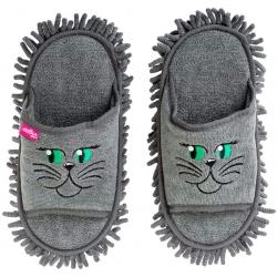 Zapatillas de microfibra grises, multivas, para atrapar el polvo, la suciedad y los escombros, fregar los estribos