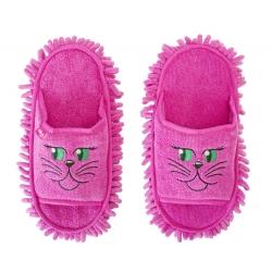 Zapatillas de microfibra Rosa, multivas, para atrapar el polvo, la suciedad y los escombros, fregar los estribos