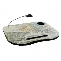 Bandeja para portatil con luz mapa españa