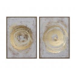 Set 2 cuadro ps lienzo abstracto modelo surtido 53x73 cm