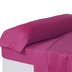 Juego de sábanas de cama 90 clásico fucsia de algodón / poliéster Basic