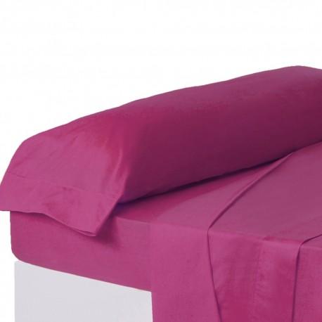 Juego de sábanas de cama 135 clásico fucsia de algodón / poliéster Basic