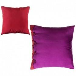 """Cojín bicolor new living colors"""" 40 x 40 cm fucsia y rojo con botones a juego."""""""