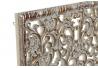 Set 2 decoracion pared madera tallado envejecido dorado 50x50 cm