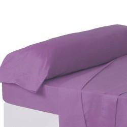 Juego de sábanas de cama 90 clásico lila de algodón / poliéster Basic