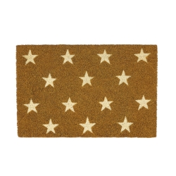 Felpudo estrellas antideslizante marrón estrellas 60x40 cm.