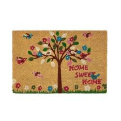 Felpudo árbol de la vida antideslizante multicolor Home sweet Home 60x40 cm.