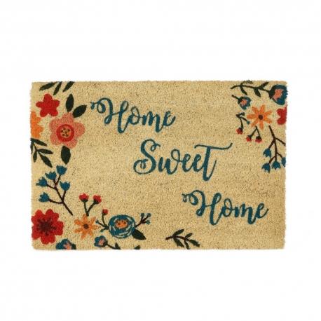 Felpudo antideslizante multicolor Home sweet Home 60x40 cm.