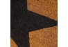 Felpudo estrella antideslizante marrón y negro de fibra de coco de 60x40 cm