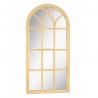 Espejo ventana oval natural de ratán y cristal de 59x2x121 cm